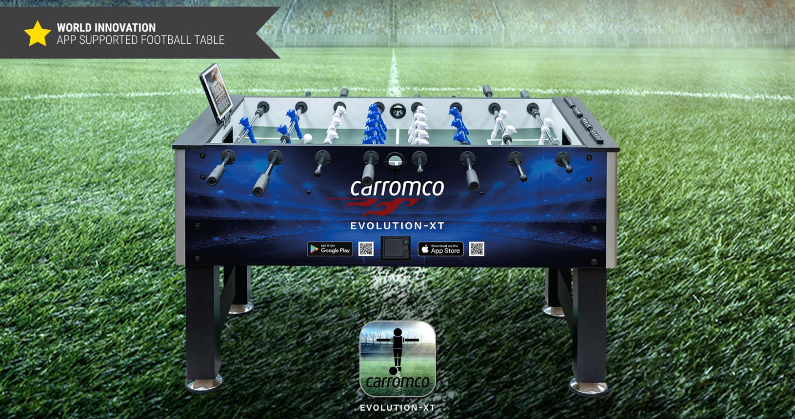 carromco football table evolution-xt