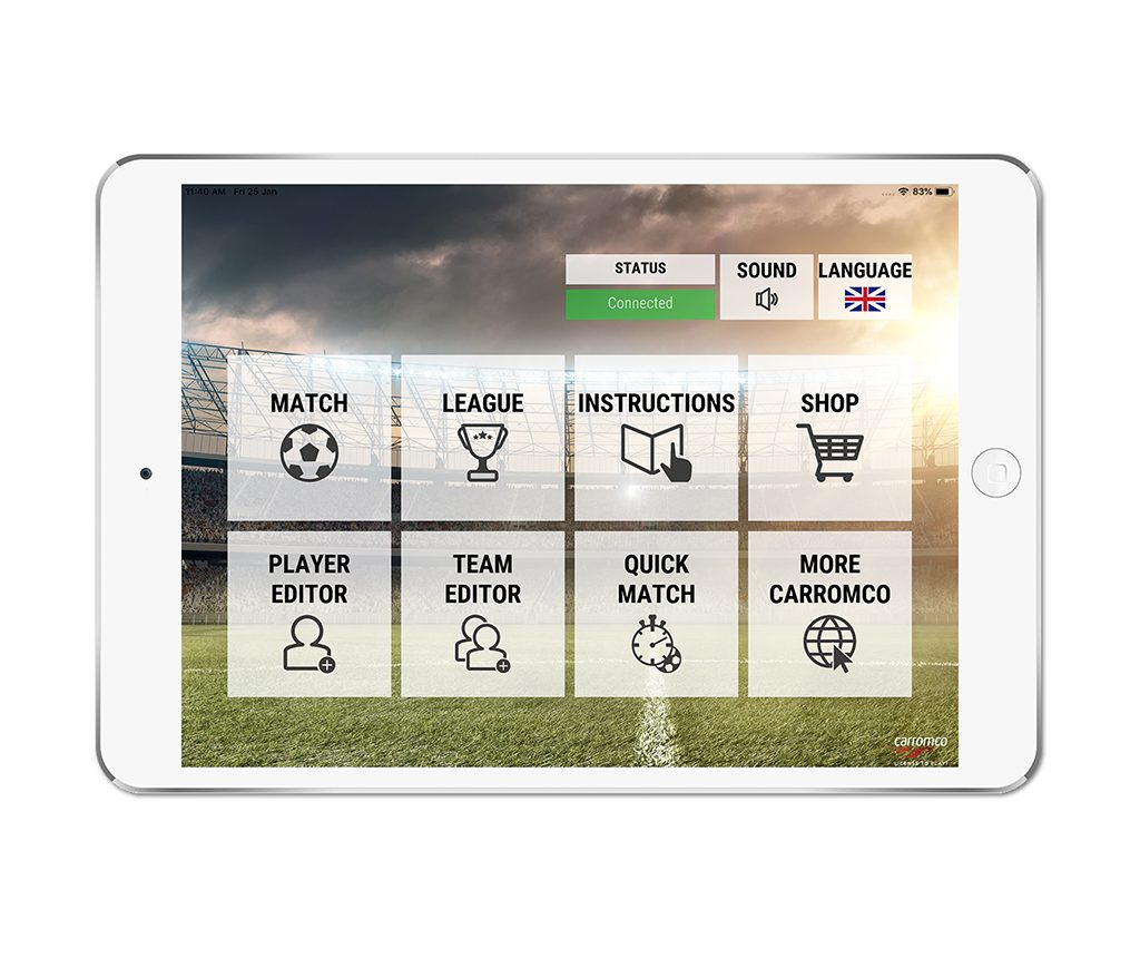 Football Table EVOLUTION-XT app screenshot