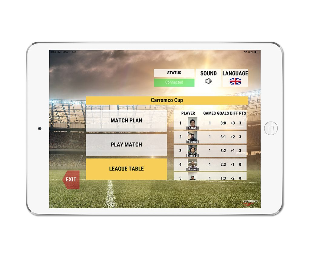 Football Table EVOLUTION-XT app screenshot 07