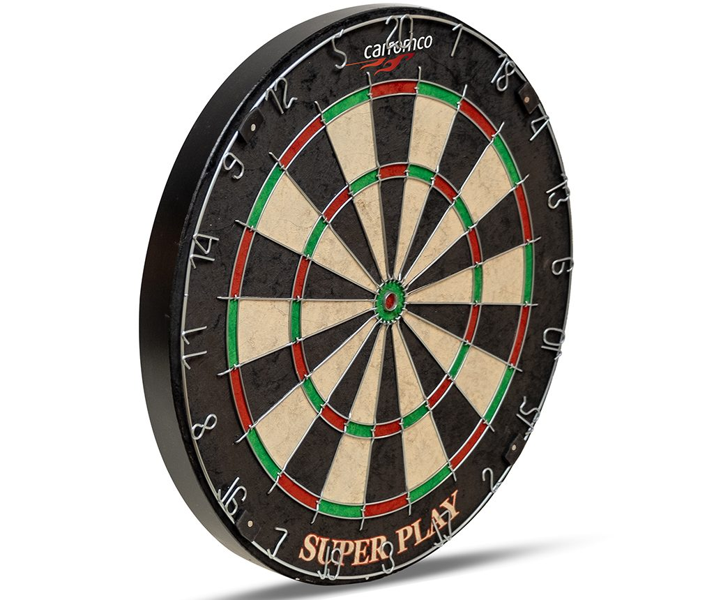 Carromco Steel Dartboard Superplay Bristle